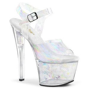 """7"""" High Heel Platform Sandal Stripper Shoes"""